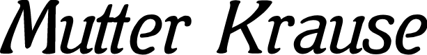 Preview image for Mutter Krause Font