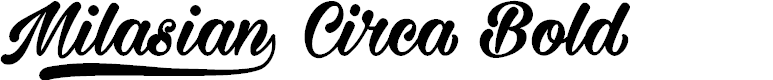 Preview image for Milasian Circa Bold PERSONAL Font
