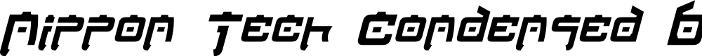 Preview image for Nippon Tech Condensed Bold Italic