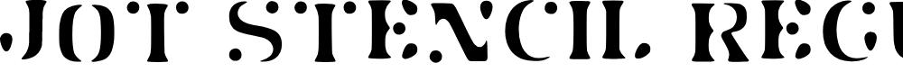 Preview image for Jot Stencil Regular Font