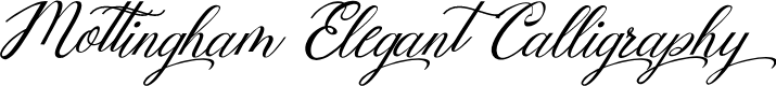 Preview image for Mottingham Elegant Calligraphy Font