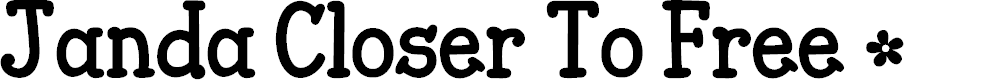 Preview image for Janda Closer To Free Font