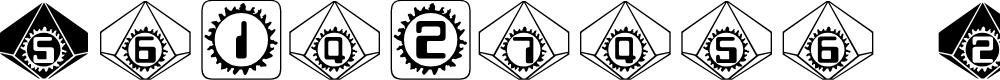 Preview image for Starburst Pips Font