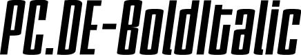 Preview image for PC.DE-BoldItalic
