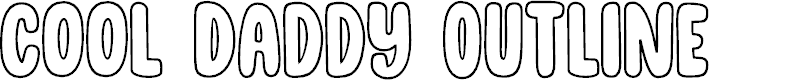 Preview image for DK Cool Daddy Outline Regular Font