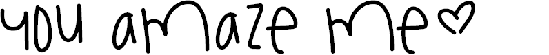 Preview image for YouAmazeMe Font