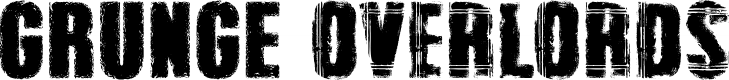 Preview image for Grunge Overlords Font