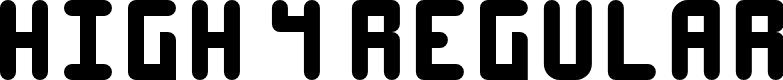 Preview image for High 4 Regular Font
