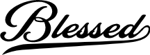 Preview image for Blessed Personal Use Font