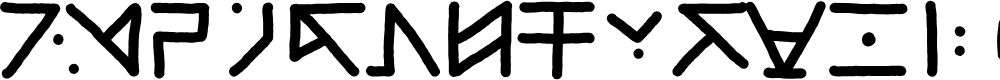 Preview image for Tatalphabet Font