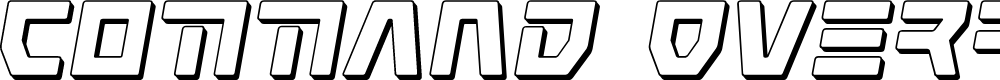 Preview image for Command Override 3D Italic