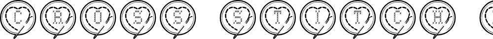 Preview image for Cross Stitch Hearts Font
