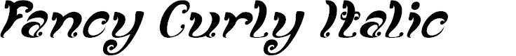 Preview image for Fancy Curly Italic