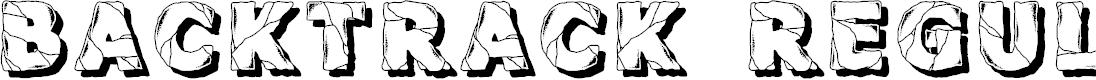 Preview image for Backtrack Regular Font