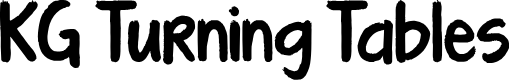 Preview image for KG Turning Tables Font