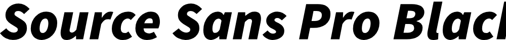 Preview image for Source Sans Pro Black Italic
