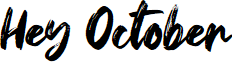 Hey October font