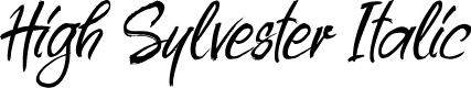 Preview image for High Sylvester Italic Font