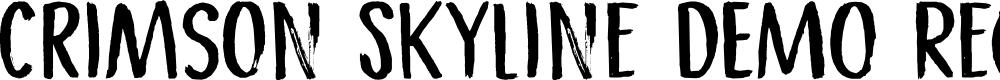 Preview image for Crimson Skyline DEMO Regular Font