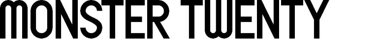 Preview image for Monster Twenty Font