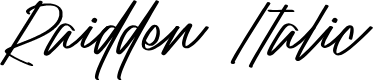 Preview image for Raidden Italic Font