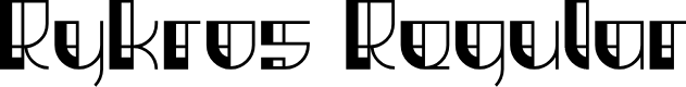 Preview image for Rykros Regular Font