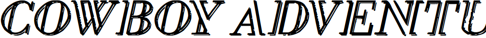 Preview image for Cowboy Adventure Italic
