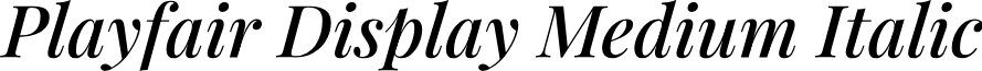 Playfair Display Medium Italic