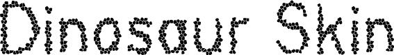 Preview image for Dinosaur Skin Font