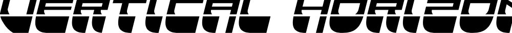 Vertical Horizon Laser Italic