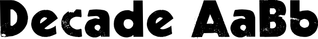 Preview image for Decade Font