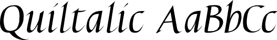 Preview image for Quiltalic Font
