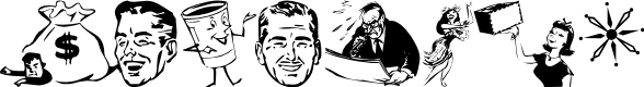 Preview image for Glamocon   RetroBats Font