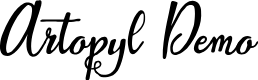 Preview image for Artopyl Demo Font