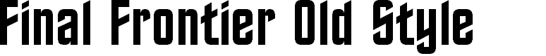 Preview image for Final Frontier Old Style Font