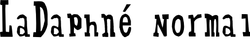 Preview image for LaDaphné Normal Font