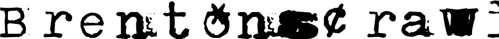 Preview image for BrentonscrawlType Font