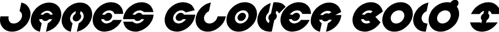 JAMES GLOVER Bold Italic