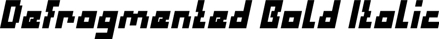Preview image for Defragmented Bold Italic