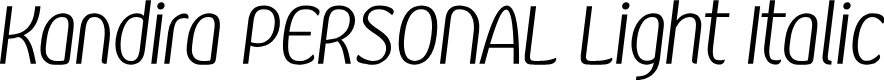 Preview image for Kandira PERSONAL Light Italic