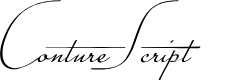 Preview image for Conture Script PERSONAL USE Font