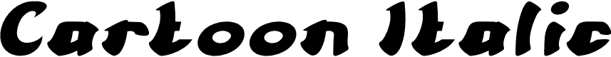 Preview image for Cartoon Italic