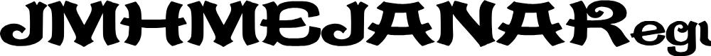 Preview image for JMHMEJANA-Regular Font