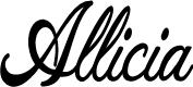 Preview image for Allicia Personal Use   Cursive