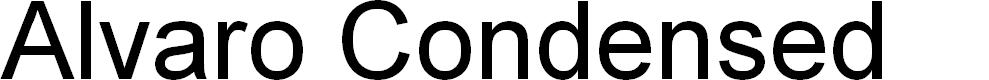 Preview image for Alvaro Condensed Font