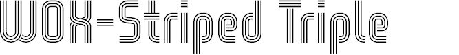 Preview image for WOX-Striped Triple Demo Font