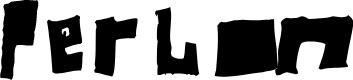 Preview image for Perlon Fat Font