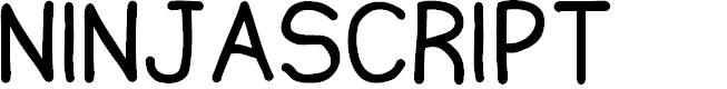 Preview image for Ninjascript Font