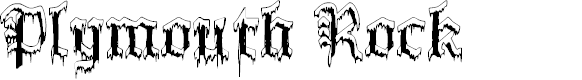 Preview image for PlymouthRock 'SnowDusted' Font