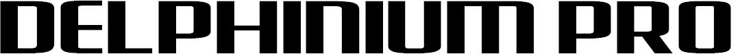 Preview image for Delphinium Pro Font